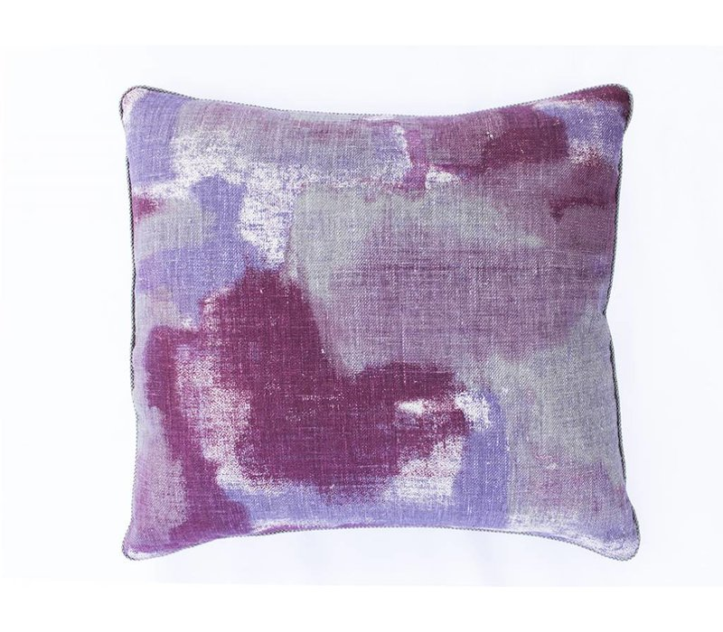 Gleam Pillow | Purple + Cranberry
