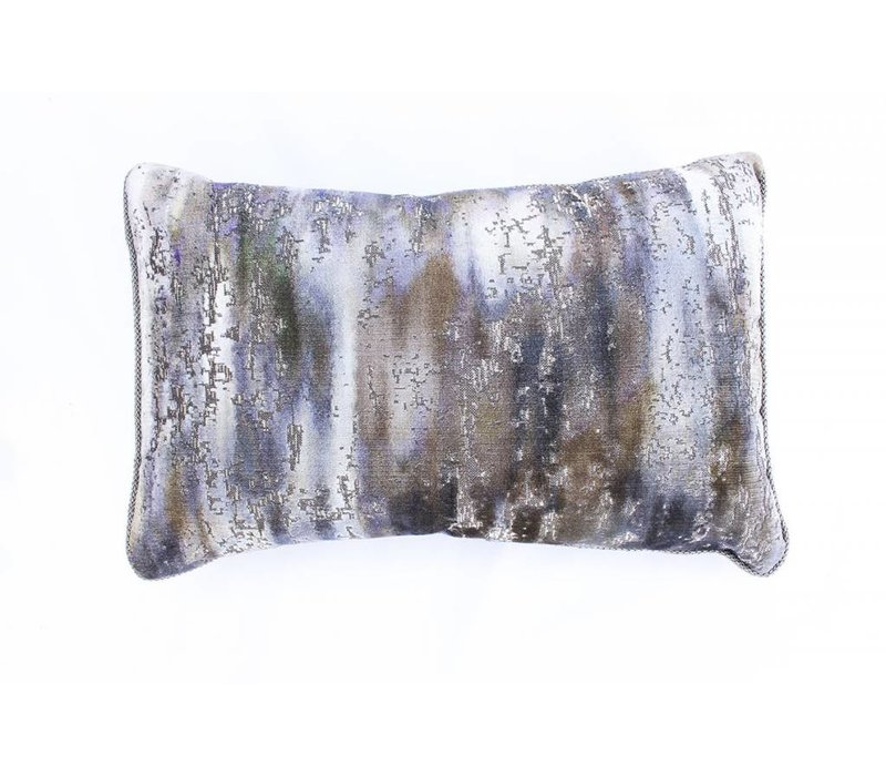 Mossy Pillow | Lumbar | Green + Brown + Blue