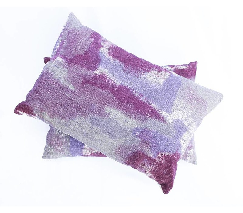 Gleam Pillow | Lumbar | Purple + Cranberry