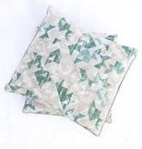 Green/Cream Arrow Pillow