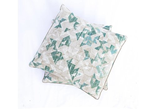 Arrows Pillow | Green + Cream