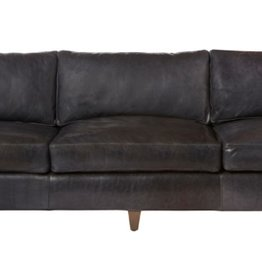 "Gunner 84"" Sofa, Feather Cloud Back/Seat, Velluto Olive #FB11055,"