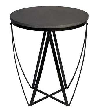 Diagram Side Table, Stone & Metal