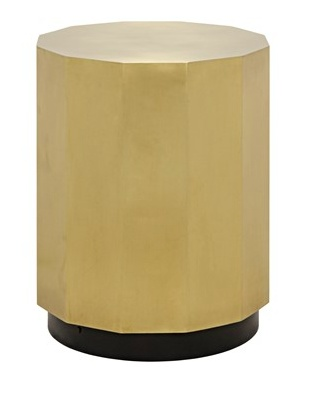 Page Side Table, Antique Brass