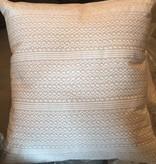 Cream Striped Zig Zag Pillow