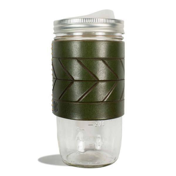 Tactile Chevron Travel Mug Green