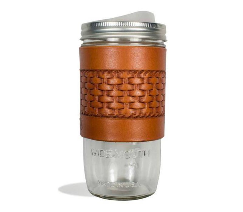 Tactile Basketweave Travel Mug