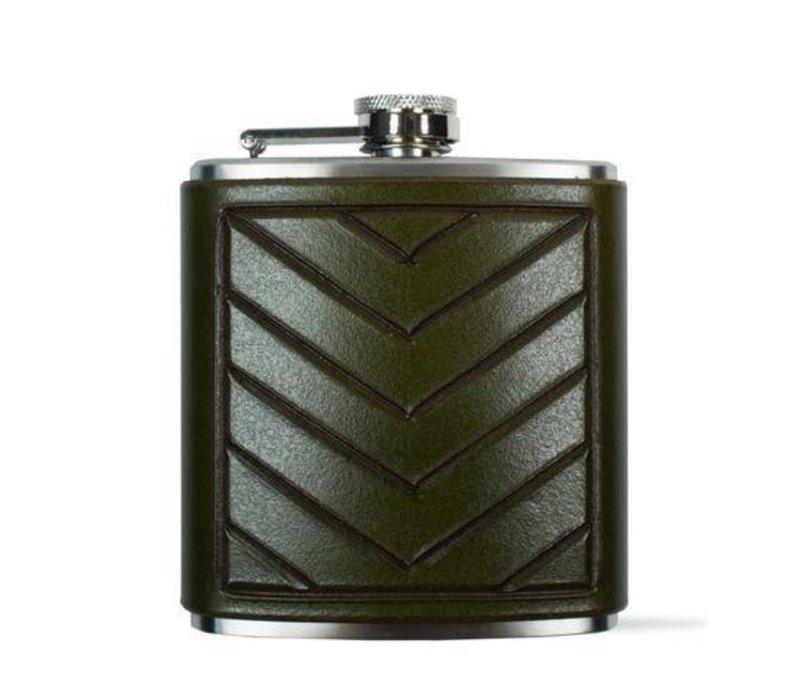 Chevron Flask, Green