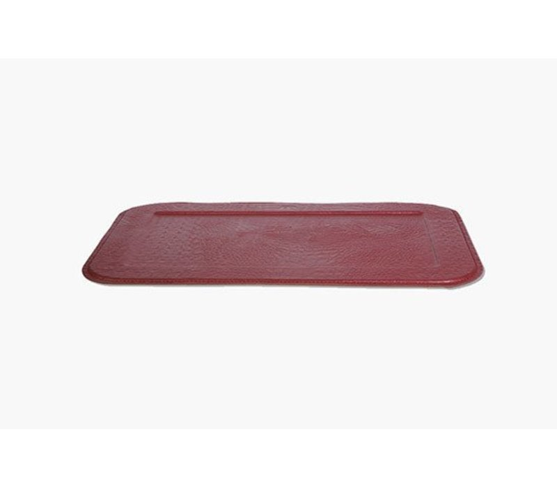 Slim Croco Serving Tray, Ruby Red