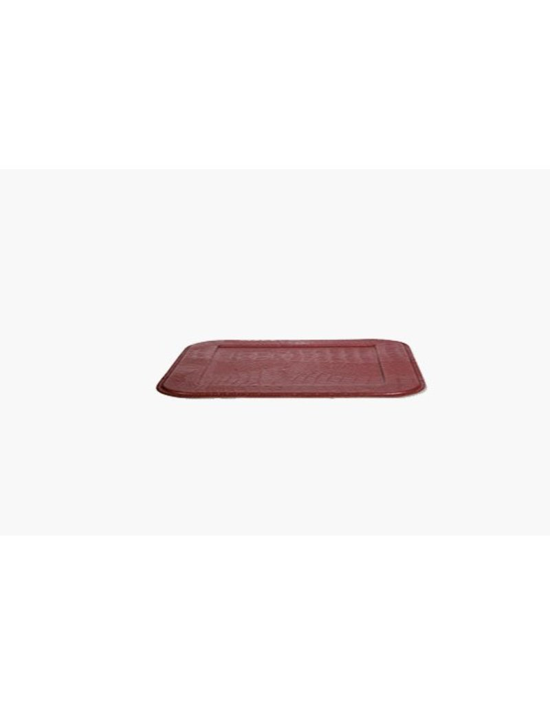 Square Serving Tray, Croco, Ruby Red