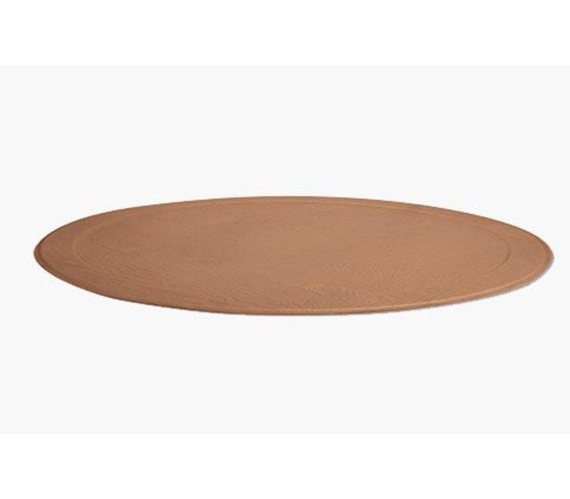 XL Round Tray CROCO, Natural