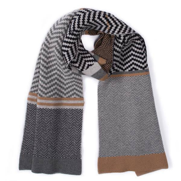 Green Thomas Chevron Grey Scarf - 14""