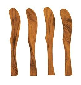 Olive Wood Spreaders Set s/o 4
