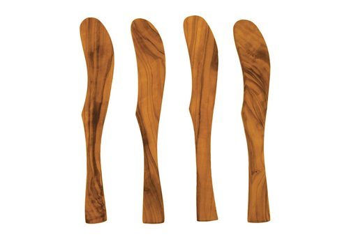 Olive Wood Spreaders Set s/o 4