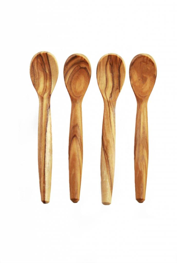 Olive Wood Mini Spoons s/o 4