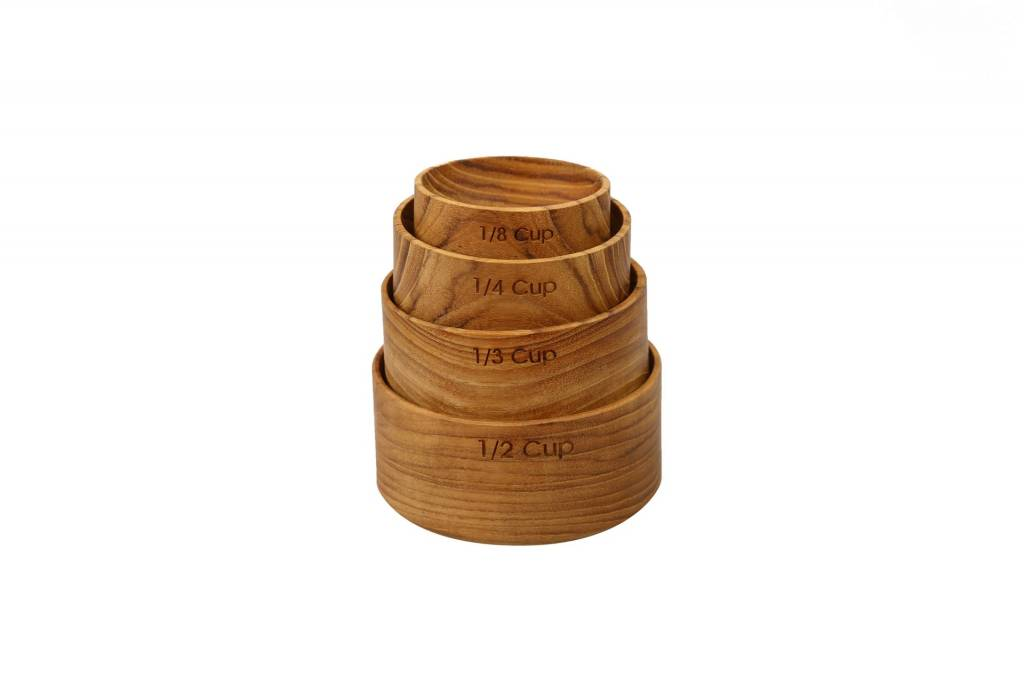 Teak Measuring Cup Nesting s/o 4