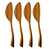 Teak Spreaders w/ Wave s/o 4