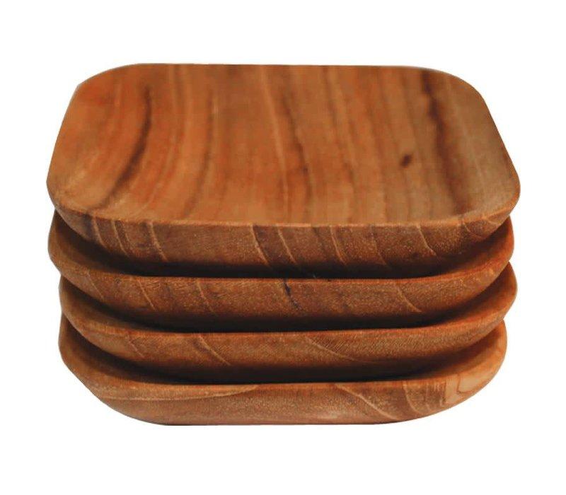Teak Square Bowls s/o 4