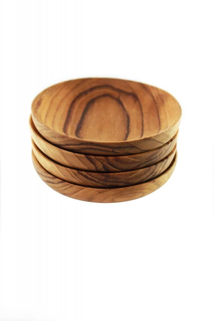 Teak Pinch Bowls s/o 4