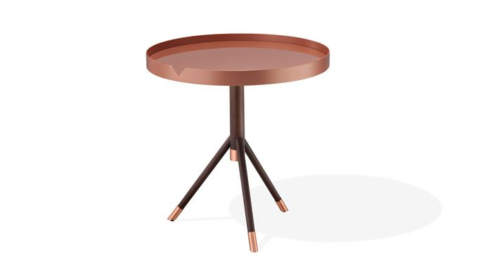 RS Chrome Side Table - Graphite