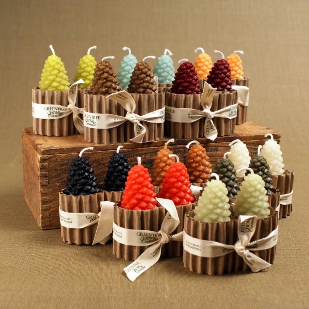 Small Cones Pair Natural - GreenTree