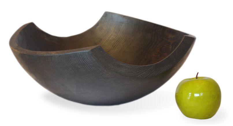 "Stinson Shard Ebonized 14"" Bowl"