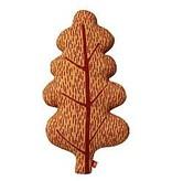 DW Small Leaf Cushion Brown