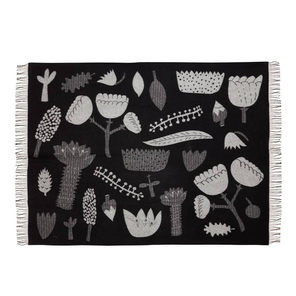 Flower Blanket Black/White - Donna Wilson