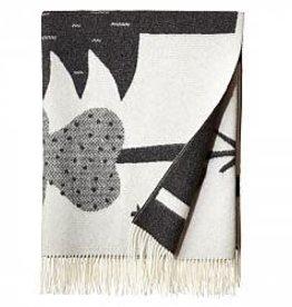 Forest Floor Black/white Throw - Donna Wilson