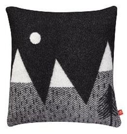 Mountain Moon Black/White Cushion - Donna wilson