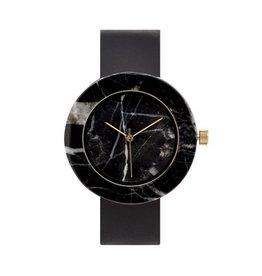 Marble Circle Mason Watch | Black, Black