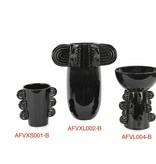 Black Artifact Bowl Vase - MD