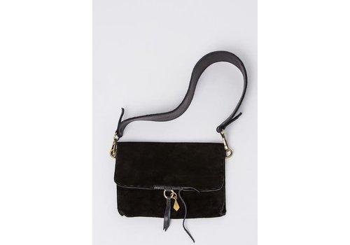 Kantha Stitch Evening Bag, Black
