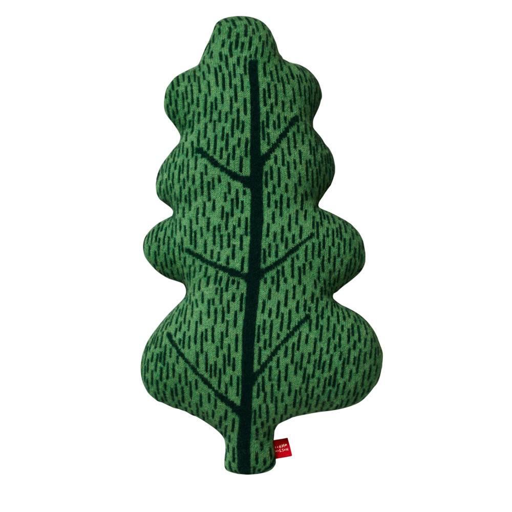 DW Small Leaf Cushion Green