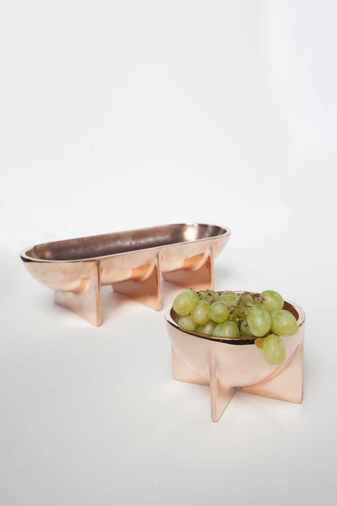 Copper Standing Bowl-Large