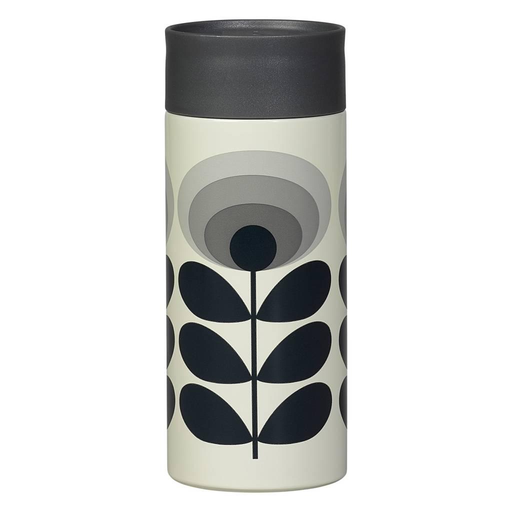 Travel Mug 70s Flower Oval Grey