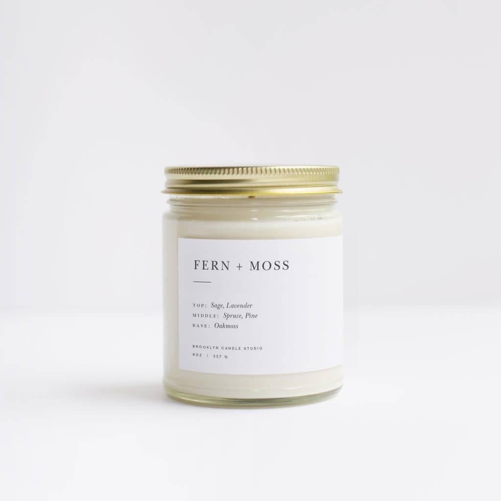 Fern + Moss Minimalist Candle