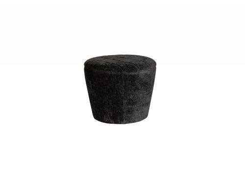 Garret Mini Ottoman | Black