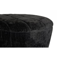 Garret Mini Ottoman | Black