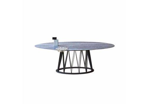 Miniforms | Akko Dining Table | Travertine Top