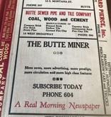 Montana Butte City Directory 1927 CS*