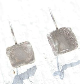 Organic Textured Sterling Silver Earrings