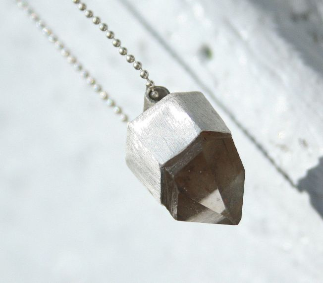 Montana Quartz Crystal and Sterling Silver Necklace