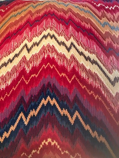 Leonard Designs 26 x 26 Feather Red, Blue, Gold