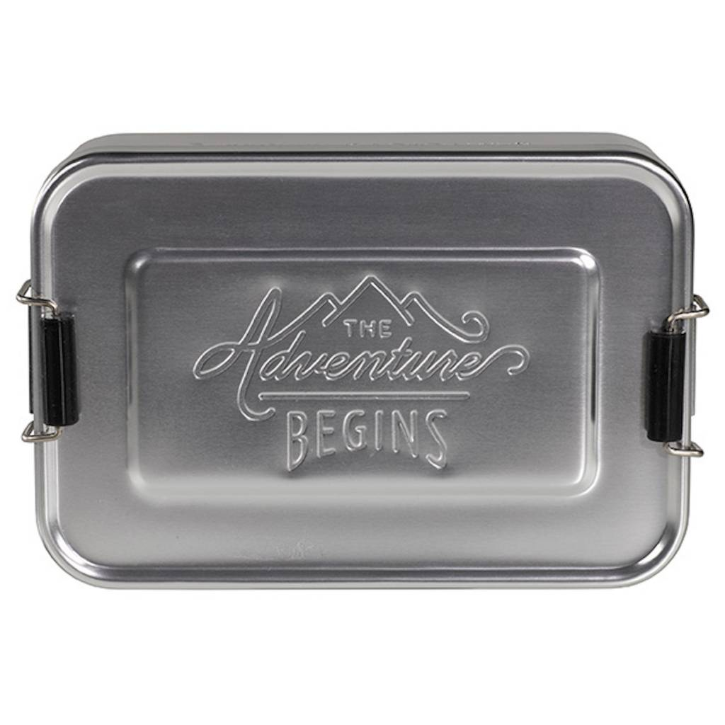 Aluminum Lunch Tin Large