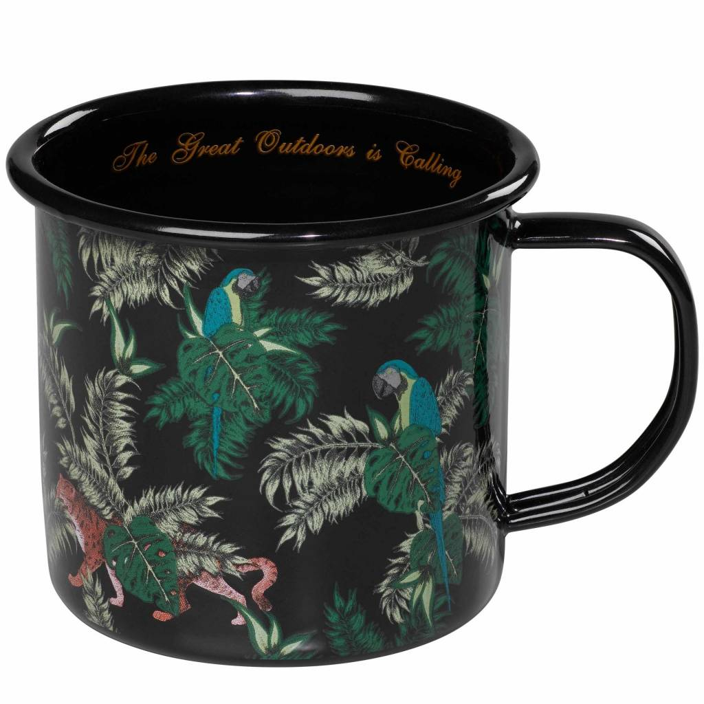 Enamel Mug, Jungle Print