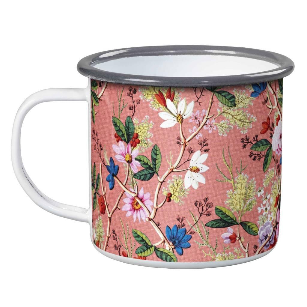 Kilburn Coral Enamel Mug