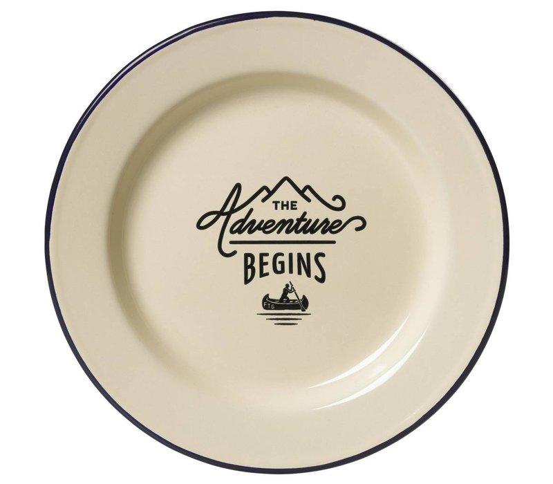 Adventure Enamel Plate
