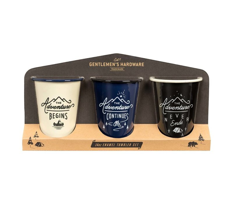 Adventure Enamel Tumblers Set of 3