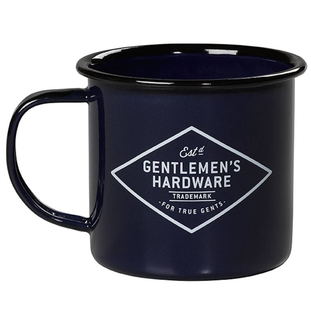 Adventure Enamel Mug, Blue